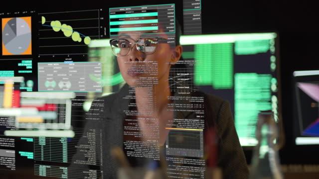guarda attraverso gli occhiali da schermo - scrutiny video stock e b–roll