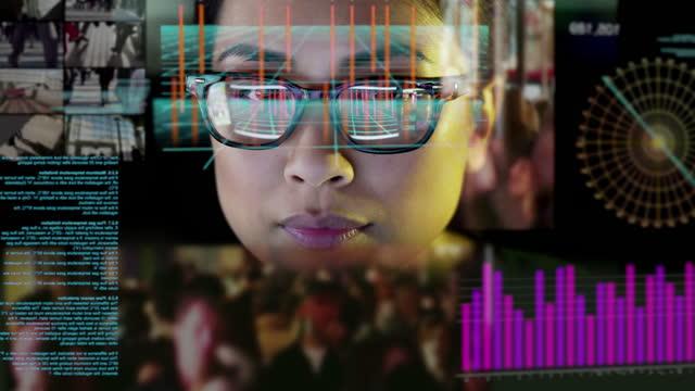 see through virtual display information - scrutiny stock videos & royalty-free footage