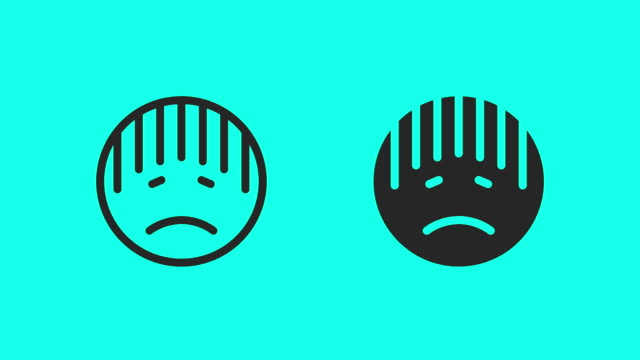 seedy emoji icons - vector animate - sulking stock videos & royalty-free footage