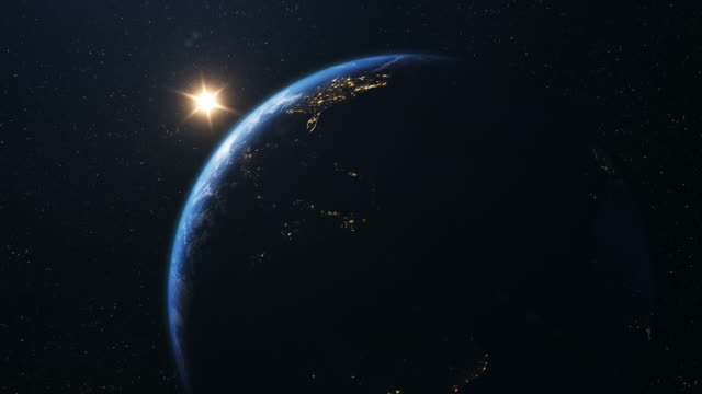 usa seen from space 4k - space exploration stock videos & royalty-free footage