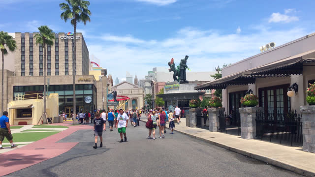 stockvideo's en b-roll-footage met seen on july 20, 2019; in orlando, florida, usa. universal studios' famous recreation facility is a national landmark and a major tourist attraction... - redactioneel