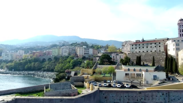 Seen on the citadel and the seaport of the city of Bastia in Corsica France