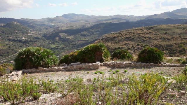 segesta, medieval fortified area, from the 13th century - circa 13th century stock videos and b-roll footage