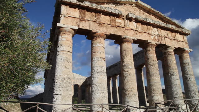 segesta, the doric temple from late 5th century b.c. - doric stock videos & royalty-free footage