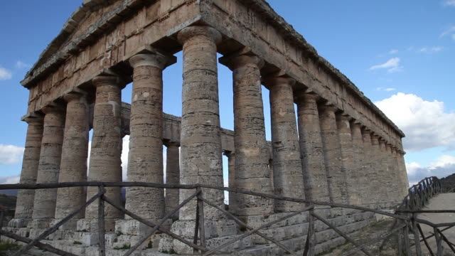 segesta, the doric temple from the 5th century b.c. - doric stock videos & royalty-free footage