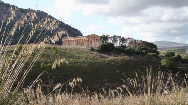 segesta, view of the doric temple - doric stock videos & royalty-free footage