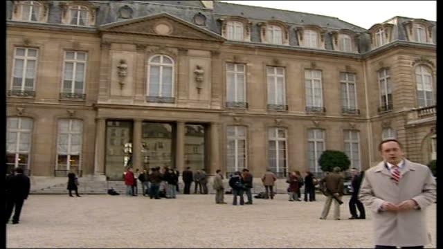 segolene royal could become first female president of france; paris: reporter to camera as towards - president of france stock videos & royalty-free footage