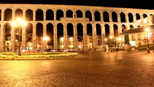 Segovia aqueduct time lapse HD