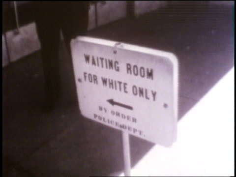 segregation signs advertise locations exclusive to whites or colored people. - separation stock videos & royalty-free footage