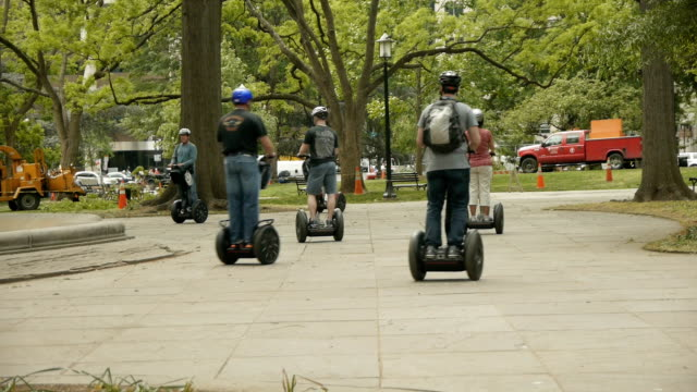 Segway Tour at Franklin Park on April 20 2012 in Wasington DC