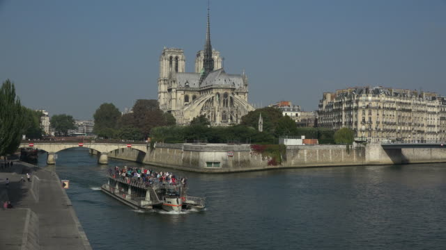 Seine River and Cathedral Notre Dame, Paris, France, Europe