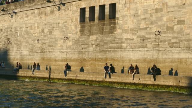 Seine River at Quai du Marché Neuf, Paris, Ile de France, France