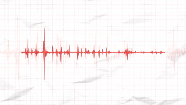 seismograph recording the seismic activity of an earthquake - danger stock videos & royalty-free footage