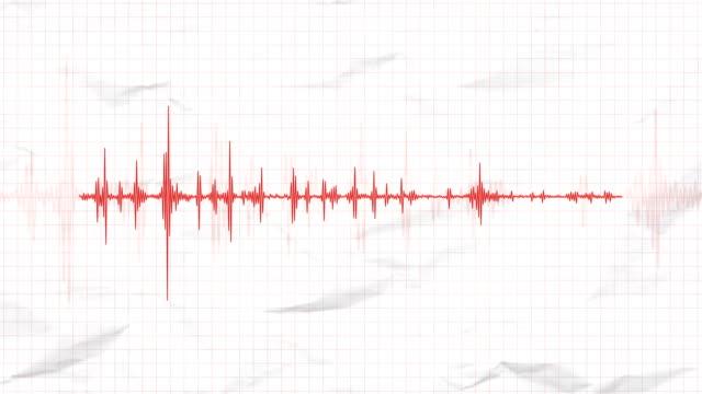 vídeos y material grabado en eventos de stock de sismógrafo que registra la actividad sísmica de un terremoto - diagrama