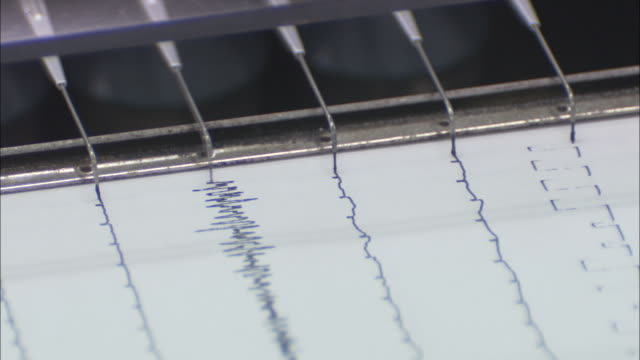 a seismometer records data. - instrument of measurement stock videos & royalty-free footage