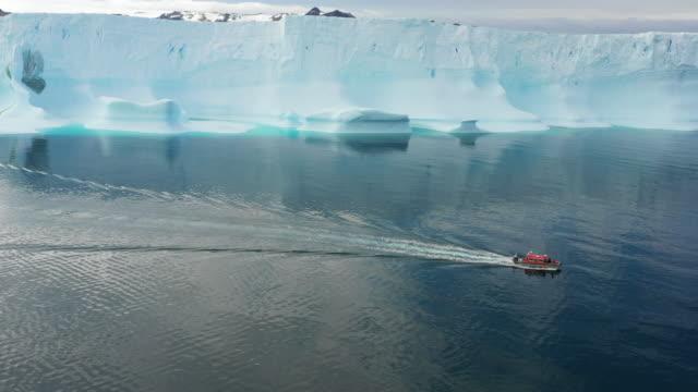 sejongho ship (korean antarctic research vessel) passing by glacier in antarctica - south pole stock videos & royalty-free footage