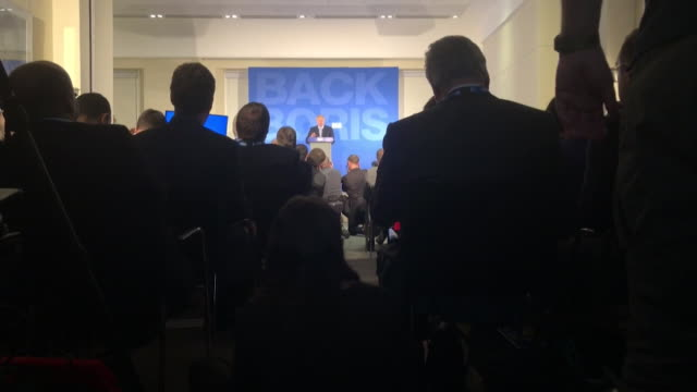 stockvideo's en b-roll-footage met selection of cutaways of conservative mp's watching boris johnson launch his conservative leadership bid - bod