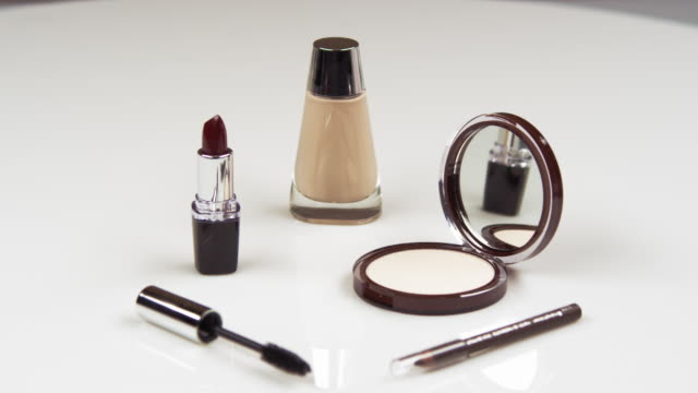 Selection of make-up items.