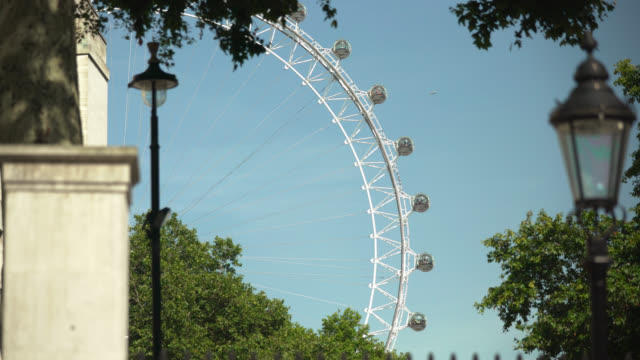 selective focus on london eye from whitehall - whitehall london stock videos & royalty-free footage