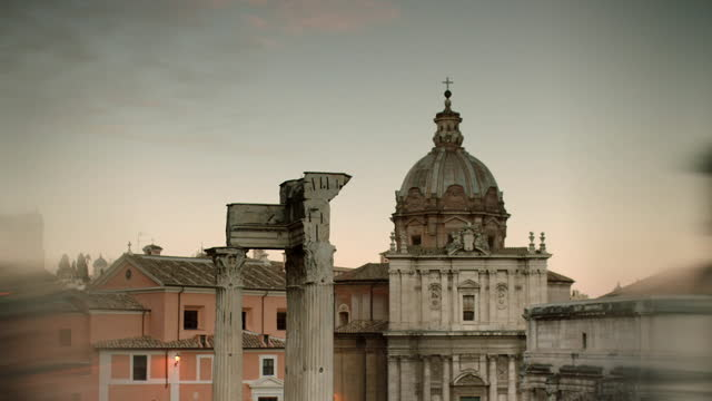selective focus views of roman forum, italy - ruined stock videos & royalty-free footage