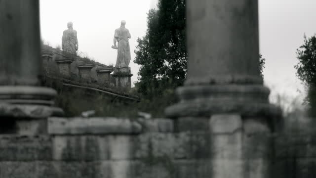 selective focus views of rome with gloomy feel - carving craft product stock videos & royalty-free footage