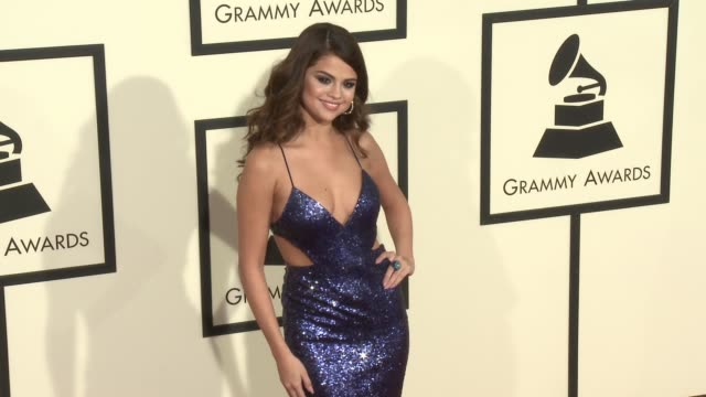 stockvideo's en b-roll-footage met selena gomez at 58th annual grammy awards® at staples center on february 15 2016 in los angeles california - 58e grammy awards
