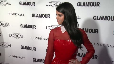 selena gomez at glamour magazine's 25th annual women of the year awards at carnegie hall on november 09, 2015 in new york city. - 2015 stock videos & royalty-free footage