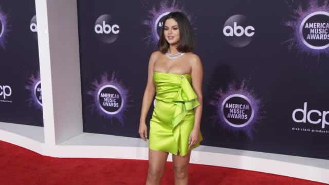 selena gomez at the 2019 american music awards at microsoft theater on november 24 2019 in los angeles california - american music awards stock videos & royalty-free footage
