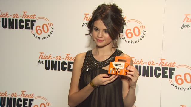 selena gomez at the selena gomez the scene host intimate concert to celebrate the 60th anniversary of trickortreat for unicef at west hollywood ca - unicef stock videos & royalty-free footage