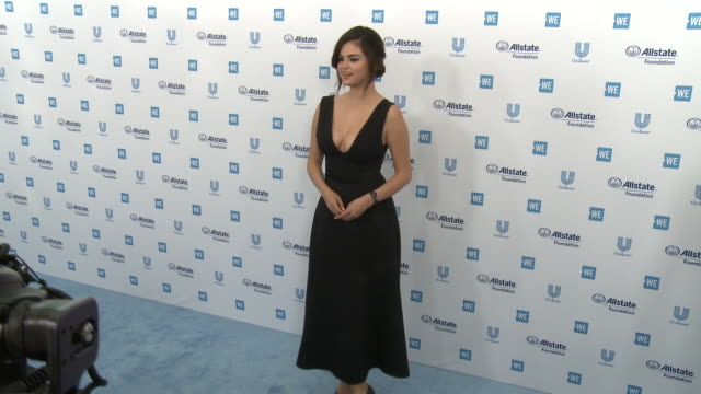 selena gomez at the we day california celebrates 16000 youth leading lasting change in america at the forum on april 25 2019 in inglewood california - selena gomez stock videos & royalty-free footage