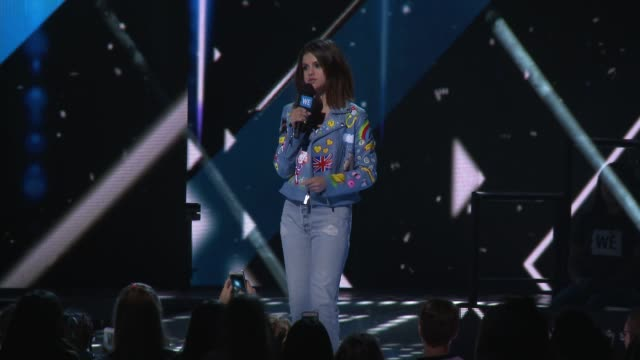 speech selena gomez at we day california 2017 at the forum on april 27 2017 in inglewood california - selena gomez stock videos & royalty-free footage