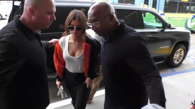 selena gomez departing at lax airport in los angeles in celebrity sightings in los angeles - selena gomez stock videos & royalty-free footage