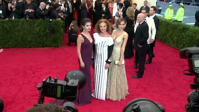 Selena Gomez Diane Von Furstenberg Jessica Alba at Charles James Beyond Fashion Costume Institute Gala Arrivals at The Metropolitan Museum on May 05...