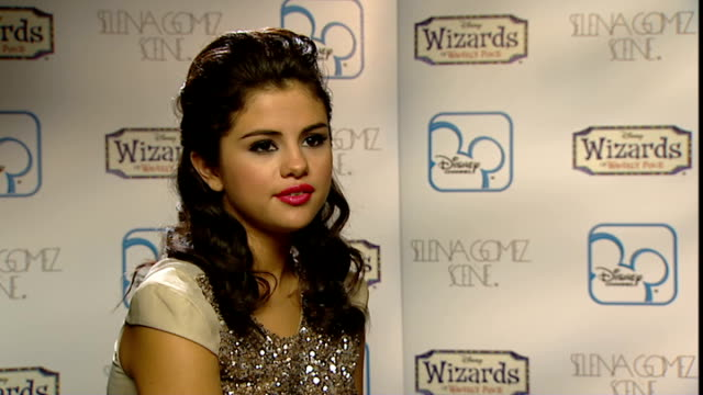 london int selena gomez interview sot on wizards of waverley place finale/ fans will be very happy/ surprised disney hd launching sept 16 really nice... - acting performance stock videos and b-roll footage