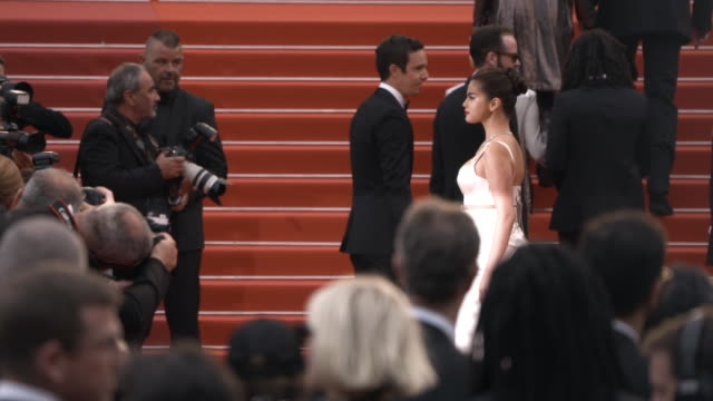 slomo selena gomez luka sabbat at 'the dead don't die' red carpet arrivals opening ceremony the 72nd cannes film festival on may 14 2019 in cannes... - the dead don't die 2019 film stock videos and b-roll footage