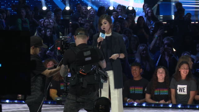 speech selena gomez on what brought her to we day and how much good we does around the world at the we day california celebrates 16000 youth leading... - selena gomez stock videos & royalty-free footage
