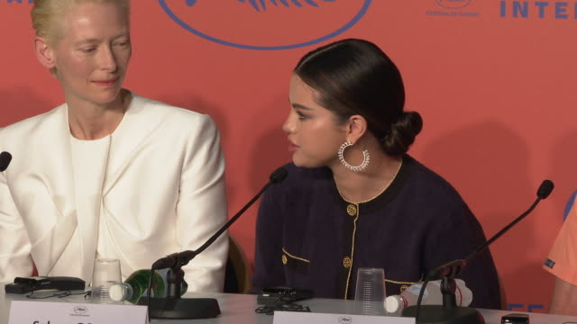 selena gomez talks about her early relationship with horror films at 'the dead don't die' press conference the 72nd cannes film festival on may 15... - cannes stock videos & royalty-free footage