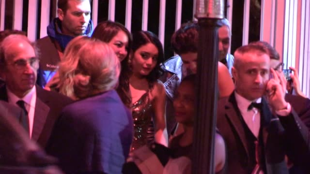 Selena Gomez Vanessa Hudgens Lily Collins depart the 2013 Vanity Fair Oscar Party in West Hollywood 02/24/13