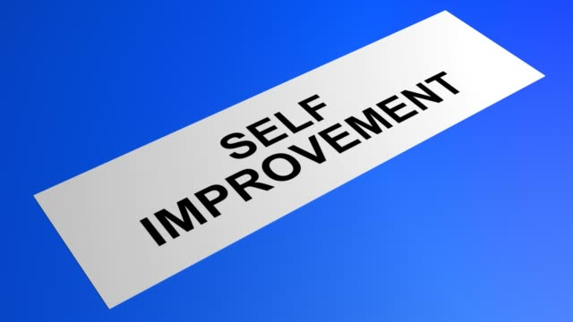 self improvement writing on a rolling blue paper - self improvement stock videos & royalty-free footage