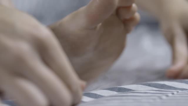 self pedicure - pedicure stock videos & royalty-free footage