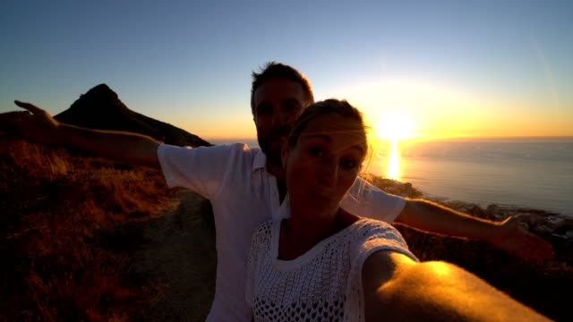Self portrait of couple in Cape Town, sunset
