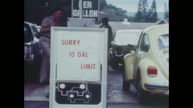 self service gas only and 10 gallon limit signs - fuel crisis stock videos and b-roll footage