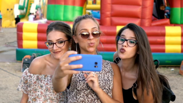 selfie at the county fair - sulking stock videos & royalty-free footage