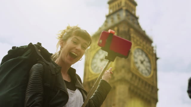 selfie big ben - big ben stock videos & royalty-free footage