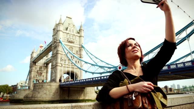 Selfie by the Tower Bridge in London