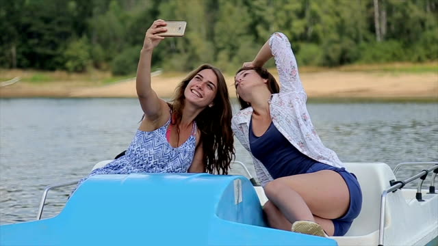 selfie for social network,summer vacation concept - pedal stock videos & royalty-free footage