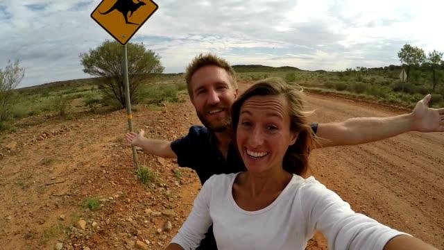 selfie in australia - animal crossing sign stock videos & royalty-free footage