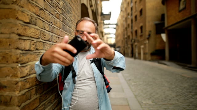 selfie in shad thames,bermondsey - hair loss stock videos & royalty-free footage