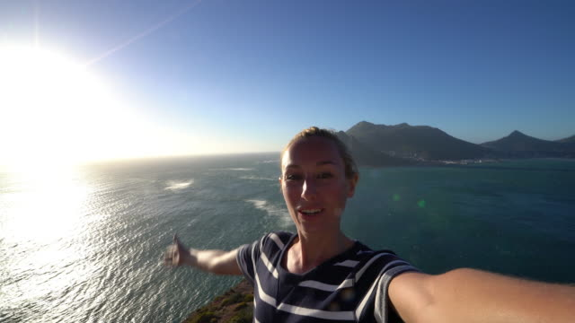 Selfie in South Africa by the coast