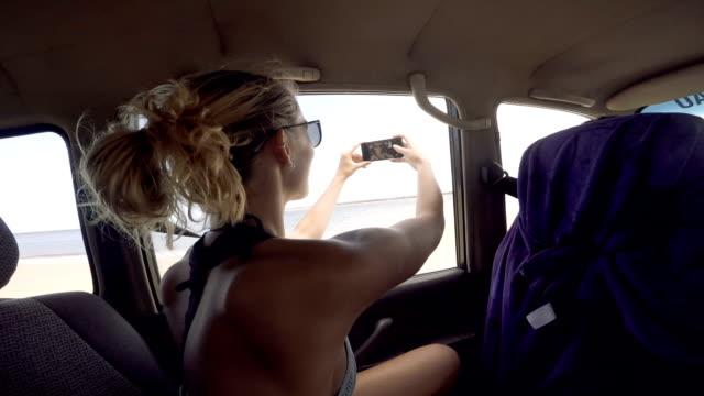 selfie on fraser island - weekend activities stock videos & royalty-free footage